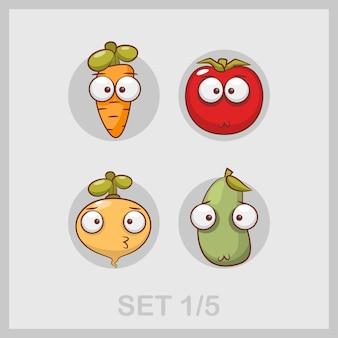 Collezione di illustrazioni di verdure