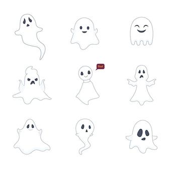Collezione di illustrazioni fantasma