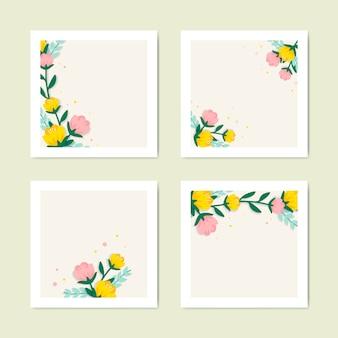 Collezione di illustrazioni floreali di primavera