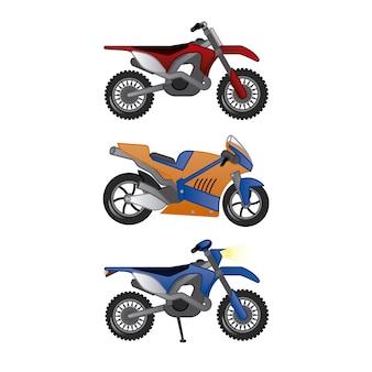 Collezione di illustrazioni moto