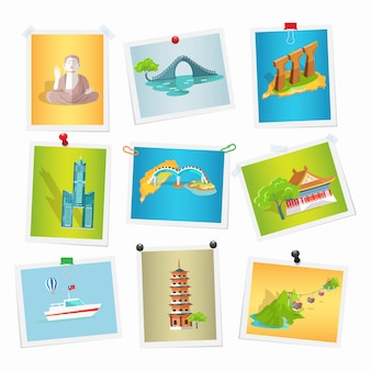Collezione di immagini di taiwan sightseeings