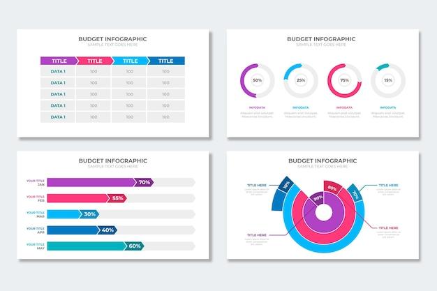 Collezione di infografica budget