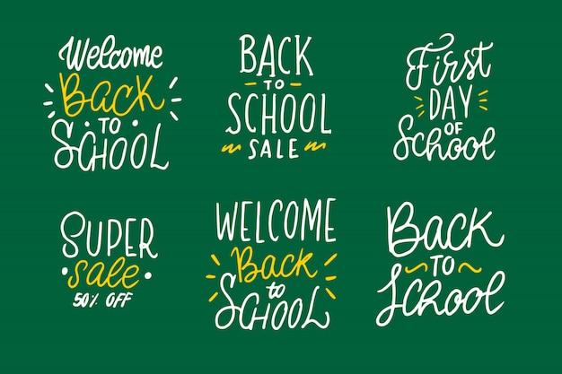 Collezione di lettere di ritorno a scuola