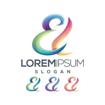 Collezione di lettere el logo gradiente