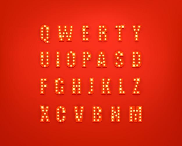 Collezione di lettere festive incandescente