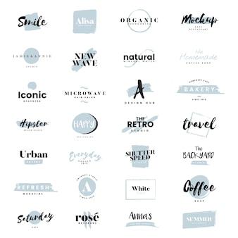 Collezione di loghi e branding vettoriale