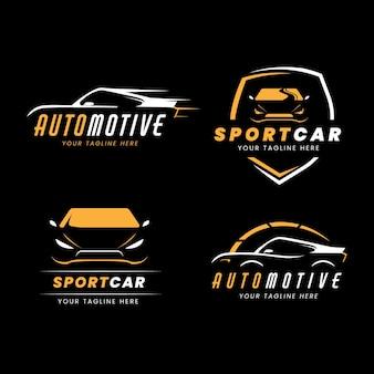 Collezione di logo auto piatta