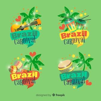 Collezione di logo del carnevale brasiliano