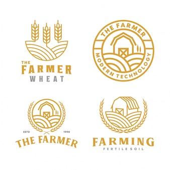 Collezione di logo dell'azienda agricola
