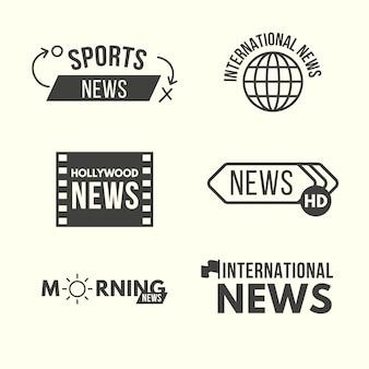 Collezione di logo di design di notizie
