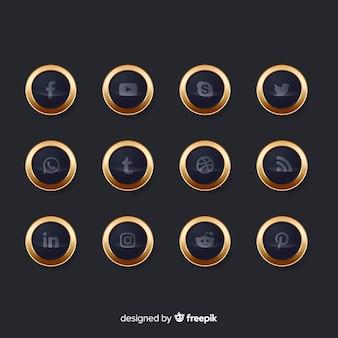 Collezione di logo di lusso sui social media