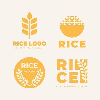 Collezione di logo di riso