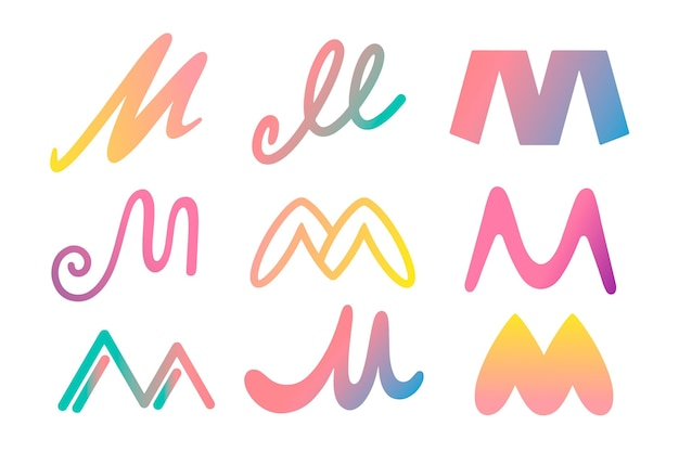 Collezione di logo m.