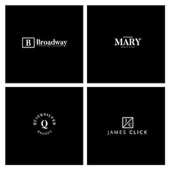 Collezione di logo minimale