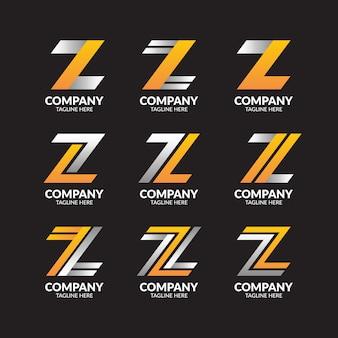 Collezione di logo moderno lettera z.
