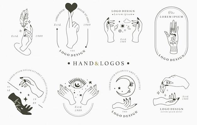 Collezione di logo occulto di bellezza