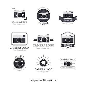 Collezione di logo per la progettazione piatta
