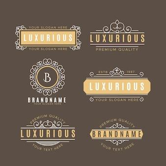 Collezione di logo vintage di lusso