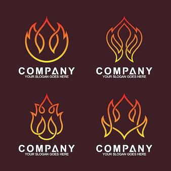 Collezione di logotipi di fuoco