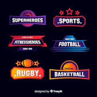 Collezione di logotipi sportivi moderni