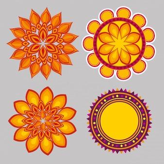 Collezione di mandala ornamentale