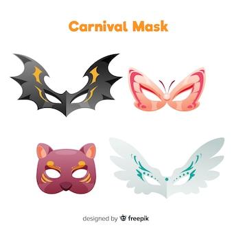 Collezione di maschere animali carnevalesche