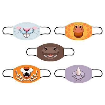 Collezione di maschere per animali