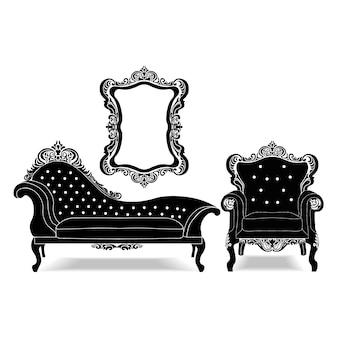 Collezione di mobili d'epoca
