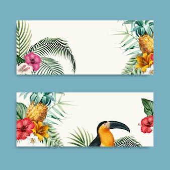 Collezione di mockup di foglie di macaw