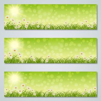 Collezione di modelli di banner primavera ed estate