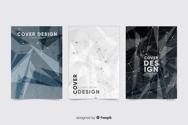 Collezione di modelli di brochure tecnologia incolore
