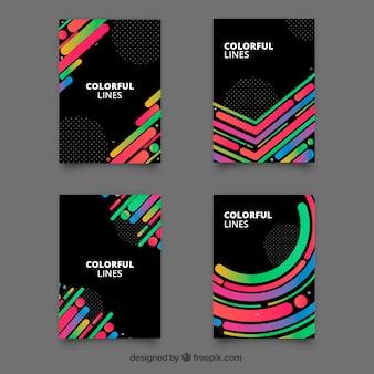 Collezione di modelli di copertine con stile geometrico