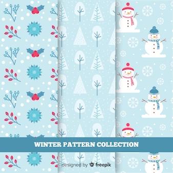 Collezione di modelli di elementi invernali