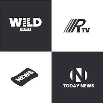 Collezione di modelli di logo di notizie