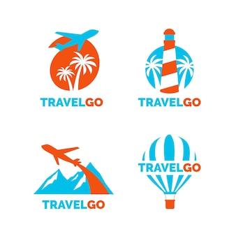 Collezione di modelli di logo di viaggio