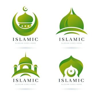 Collezione di modelli di logo islamico