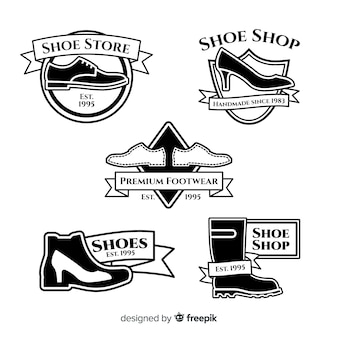 Collezione di modelli di logo scarpe moderne