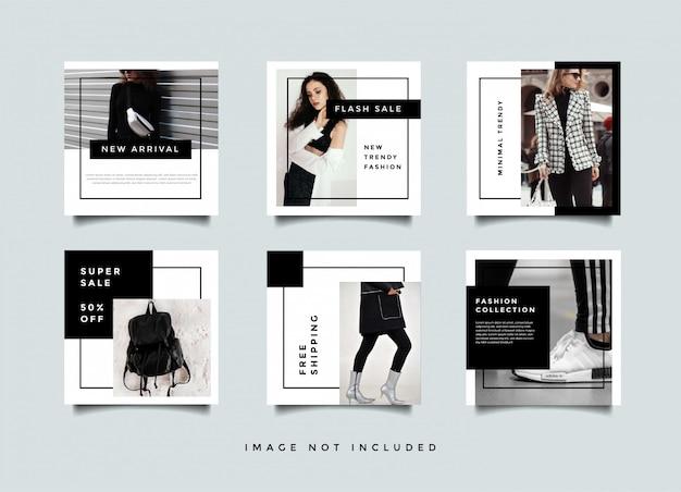 Collezione di modelli di moda social media post