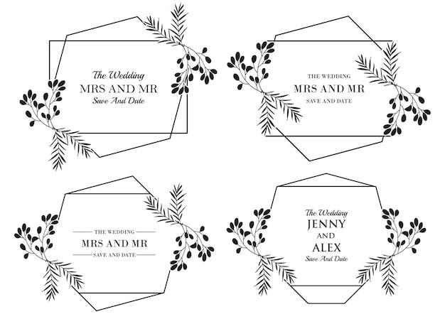 Collezione di modelli di nozze floreali