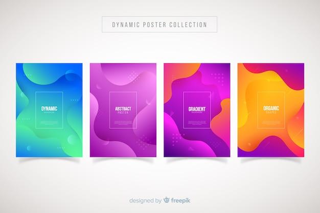 Collezione di modelli di poster dinamici