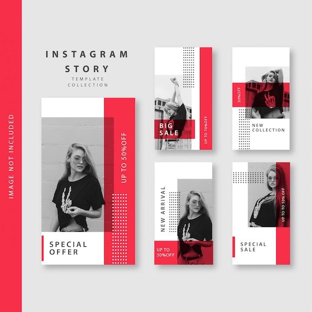 Collezione di modelli di storie di instagram