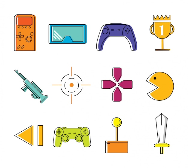 Collezione di modelli icona giocatore