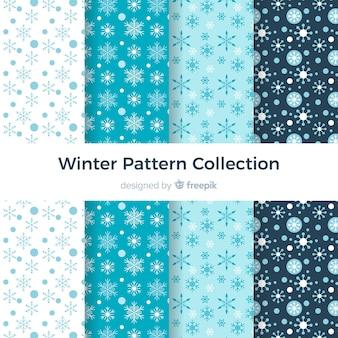 Collezione di modelli invernali piatti