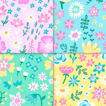 Collezione di modelli primavera disegnati a mano