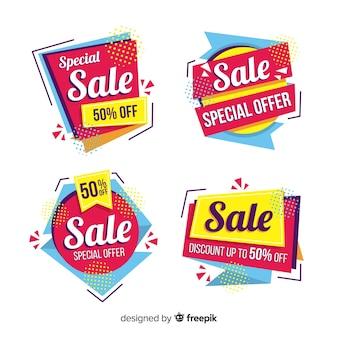 Collezione di modello astratto banner di vendita