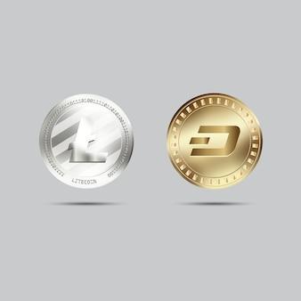 Collezione di monete di criptovaluta