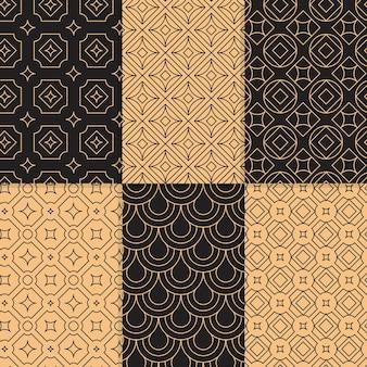 Collezione di motivi geometrici in stile minimal