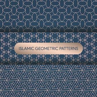 Collezione di motivi geometrici islamici
