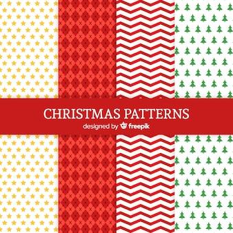 Collezione di motivi geometrici natalizi