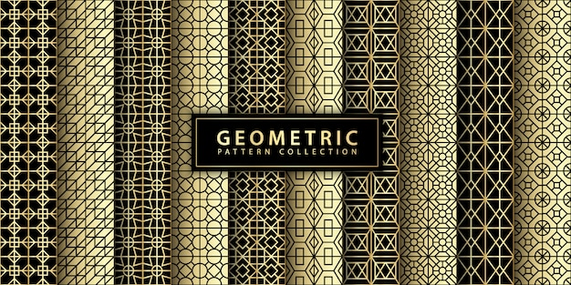 Collezione di motivi geometrici